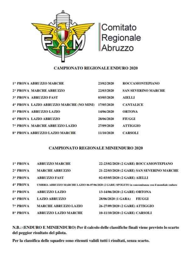 Calendario Enduro Regionale 2021 Calendario Campionato Enduro e Mini Enduro 2020 | Fmi Comitato